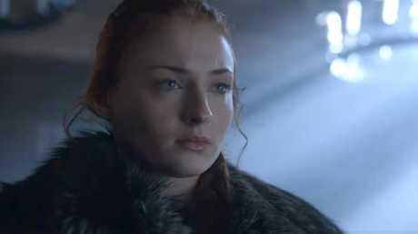 Sophie Turner as Sansa Stark in a scene from season six of Game of Thrones.