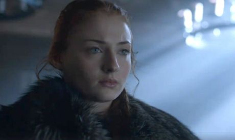 Sophie Turner as Sansa Stark in a scene from season six of Game of Thrones.