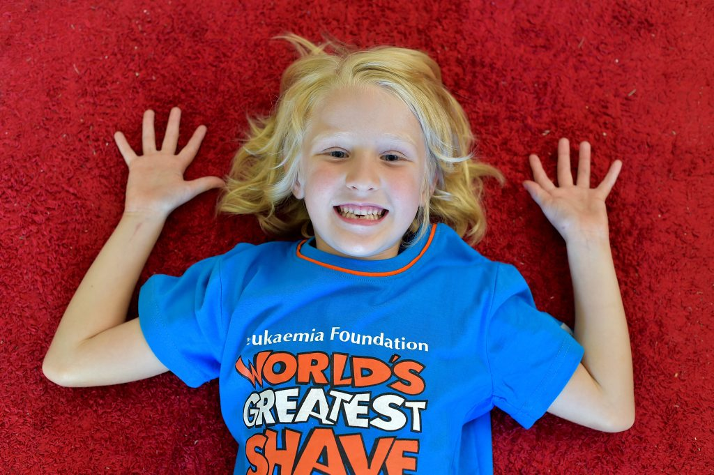 7 year old Miki will be losing her hair for charity. Photo: Warren Lynam / Sunshine Coast Daily