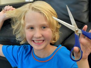 Sunshine Coast youngsters lop off locks for a good cause