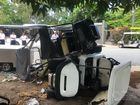 Baby and mother injured after buggy carrying seven crashes