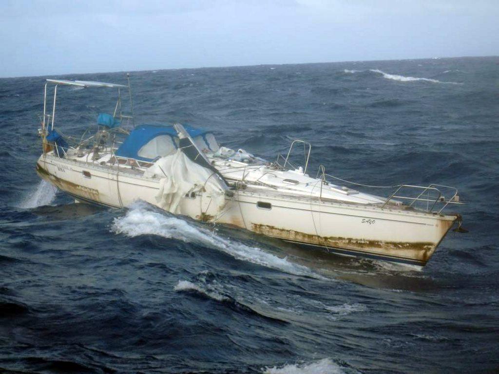 LMAX Exchange encounters mummy yacht Sayo of the coast of Guam.