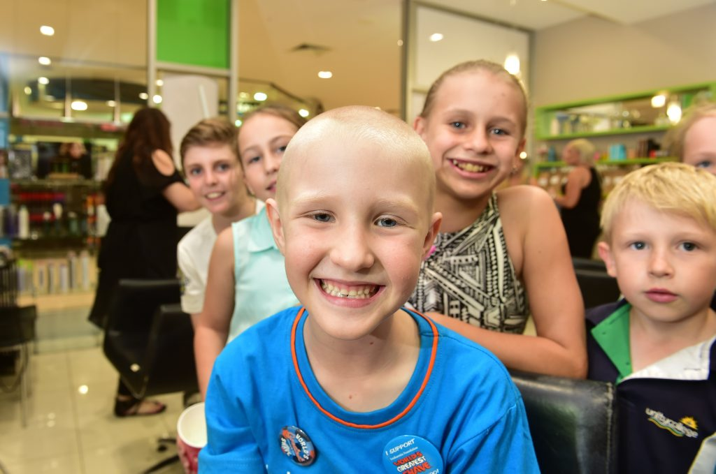 Miki Gunkel, 7, is a selfless and compassionate little girl who decided to shave her head for Shave for a Cure. Miki blitzed her fundraising target of $1000 and now hopes to reach $2000. Photo: Che Chapman / Sunshine Coast Daily