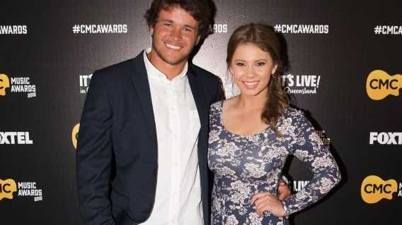 Chandler Powell and Bindi Irwin arrive at the CMC Music Awards in Brisbane.