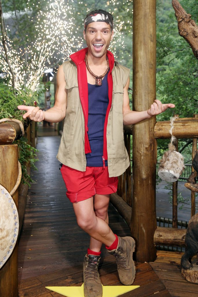 Anthony Callea pictured after his elimination from I'm A Celebrity... Get Me Out of Here!