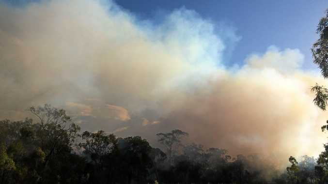 BURN OFF: Local RFS crews have taken advantage of the weather to burn areas of bush.