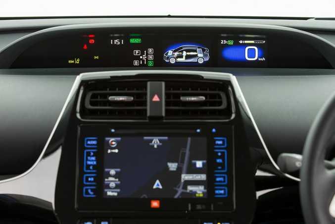 Inside the top-spec 2016 Toyota Prius.