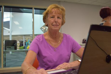 FAST LEARNER: Leoni Brown, aged 66, learnt how to navigate the web at Thursday's Tech Savvy for Seniors computer lesson.