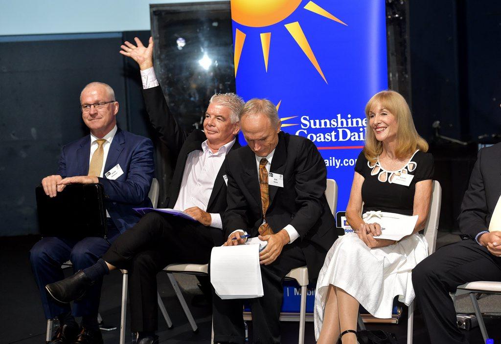 Mayoral candidates Mark Jamieson, Tony Gibson, Ron Green and Alison Barry-Jones.