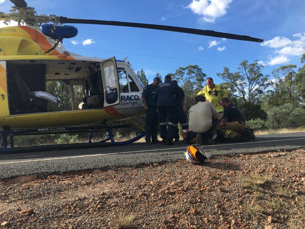 The scene of the crash near Millmerran.