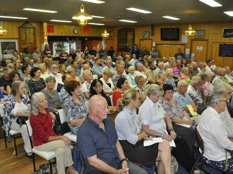 Residents packed Toowoomba South Bowls Club to hear from Toowoomba Regional Council candidates.