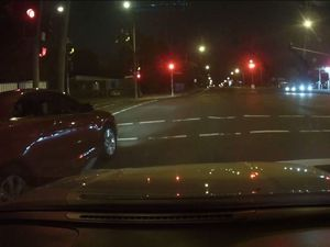DASH CAM: 'Idiot' driver makes own way at intersection