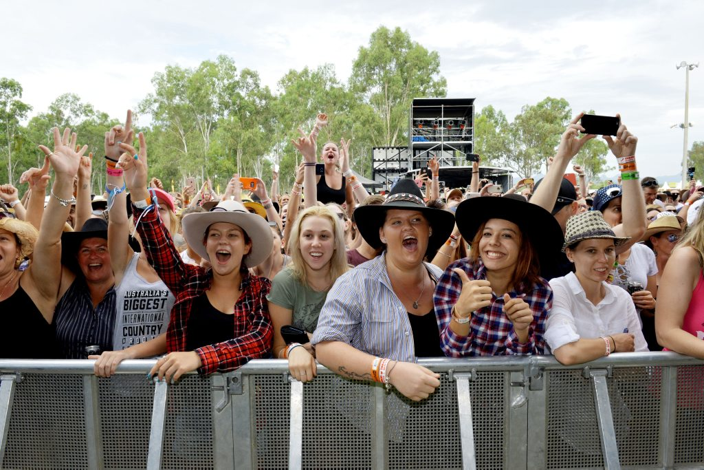 Image for sale: Chase Rice and his band perform for fans at CMC Rocks at Willowbank. Photo: Inga Williams / The Queensland Times