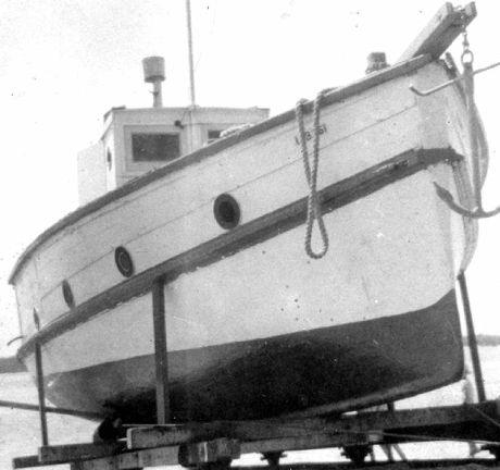 Chaplin Brothers' trawler Sunbeam on Chaplin's Slipway in Caloundra.