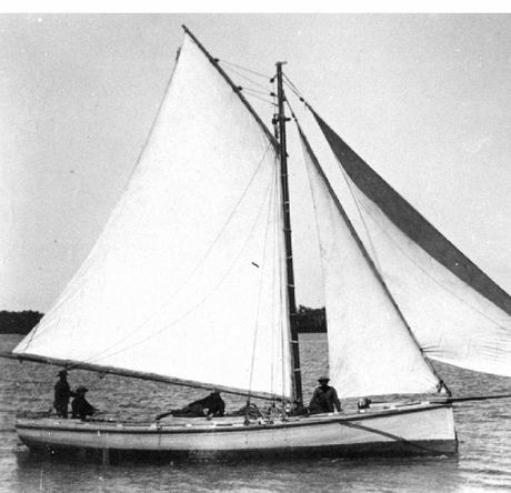 Oyster Cutter the PNJ in Pumicestone Passage in 1894.