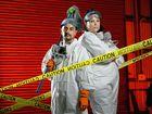 GRIM TASK: Aust Bio Clean owners Elias Bobridge and Charina Farry.
