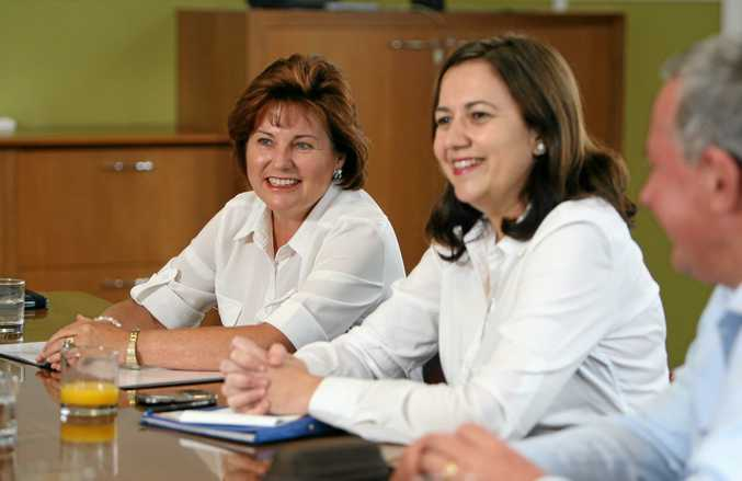 HAPPIER DAYS: Jo-Ann Miller has taken aim at Premier Annastacia Palaszczuk and others in the Labor Party.
