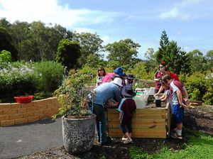 Young competition winners enjoy a day of planting in Lismore
