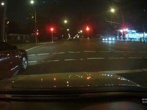 Dash cam shows dodgy driver