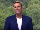 Shane Warne gets cranky when questioned about his charity.