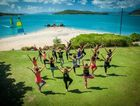Yoga on Daydream Island.