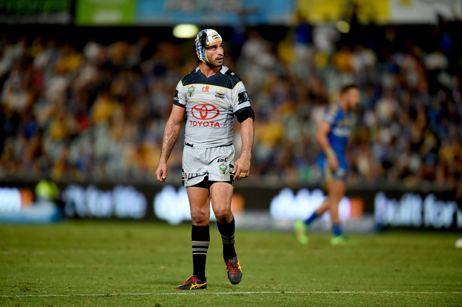 A dejected Johnathan Thurston during the Cowboys' loss. Photo: AAP Image.