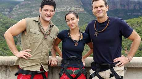 I'm A Celebrity... Get Me Out of Here! finalists Brendan Fevola, Laurina Fleure and Paul Harragon.