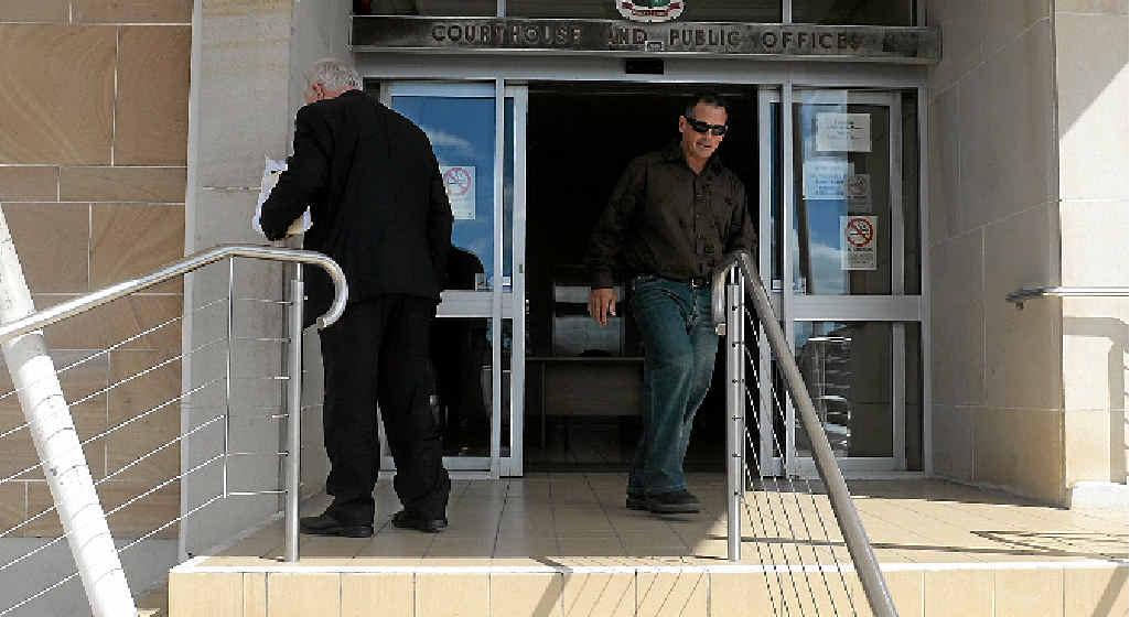FINED: Ricki John Savidge leaving the Bundaberg Courthouse.
