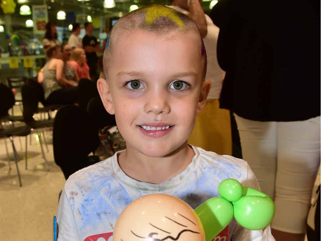 OUTSTANDING EFFORT: Tanner Cavanagh, 5, raised $5000 for the World's Greatest Shave – Team Adem event at Maroochydore Homemakers Centre.