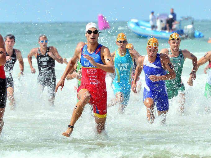 MOLA THE MAN: Mario Mola claimed the Mooloolaba ITU World Cup Triathlon men's race yesterday.
