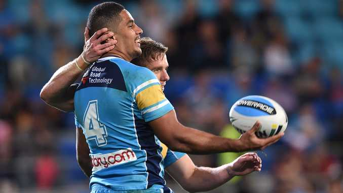 Kane Elgey has spawned approaches by rival clubs to stick with the Gold Coast Titans. Photo: AAP Image.