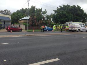 One person taken to hospital after crash in Rockhampton CBD