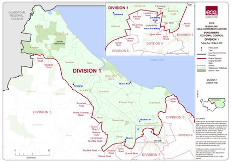 ELECTION 2016: Division 1 map Photo Electoral Commision Queensland.