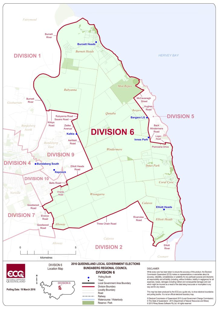 ELECTION 2016: Division 6 map Photo Electoral Commision Queensland.