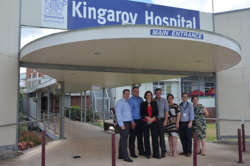 SICK HOSPITAL: Assistant to the Prime Minister Senator James McGrath visited the Kingaroy Hospital last week.