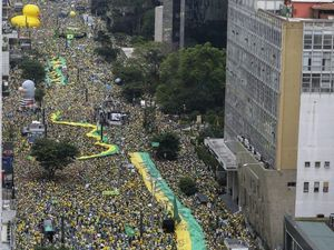 Millions protest in Brazil against leader and corruption