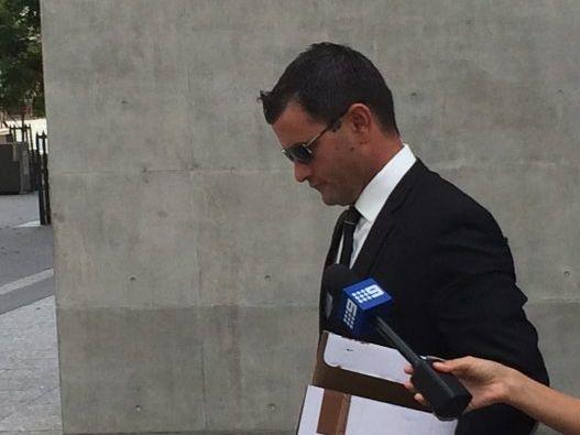 Accused murderer Shane Anthony Eric Hansen leaves the Brisbane Supreme Court on Monday.