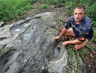 SACRED LAND: Kabi Kabi land rights activist Wit-booker says the so-called Gympie Pyramid, also known as Rocky Ridge, will be destroyed by Gympie highway by-pass construction, along with irreplaceable Aboriginal artefacts.