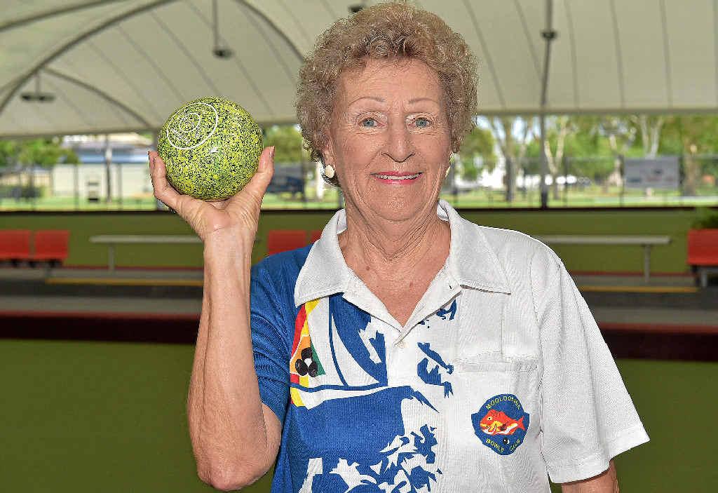 CHAMPION EFFORT: Shirley Mackaway was in a club title winning fours team.