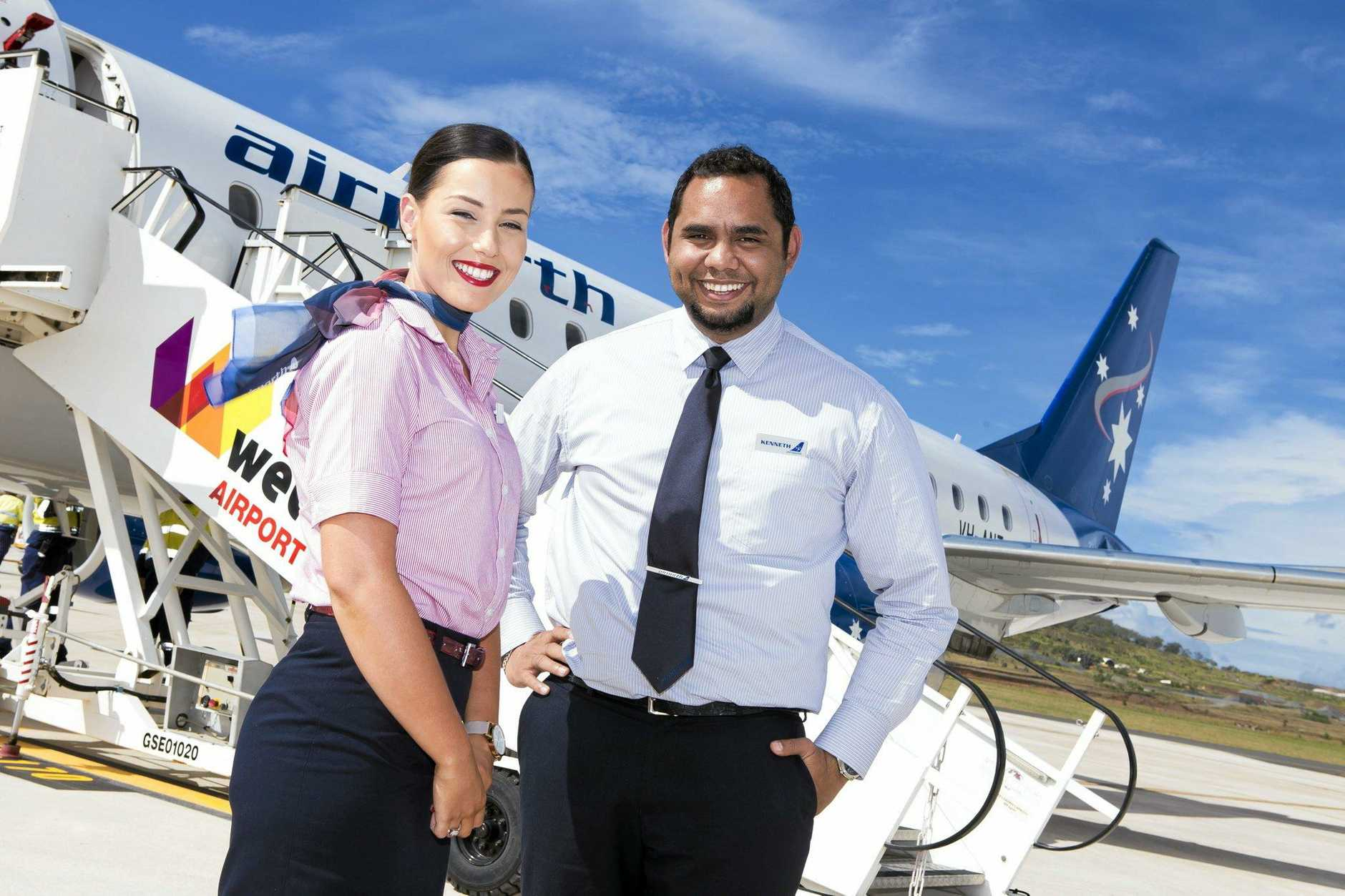 Toowoomba flight attendants Sarah Parker and Kenneth Torres join the ranks of Airnorth.