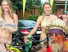 FLESHING IT OUT: Byron Bay's Nude Bike Ride provides a colourful spectacle.
