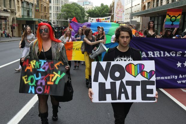 same sex marriage campaigners