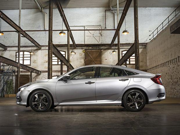 The 2016 Honda Civic sedan will arrive in June.