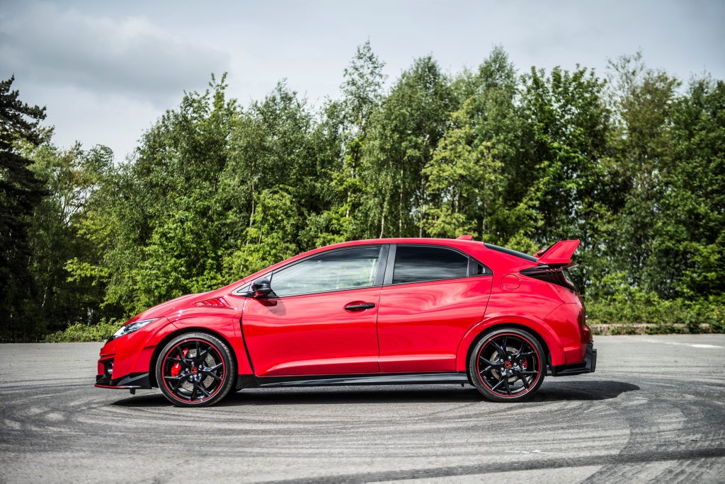 The British Honda Civic Type R.