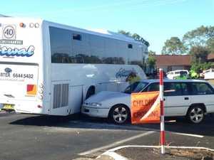 Bus involved school zone crash