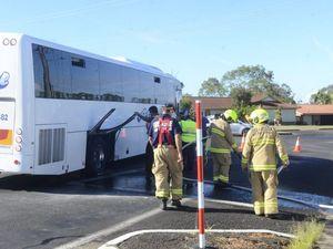 VIDEO: School bus involved in school zone crash