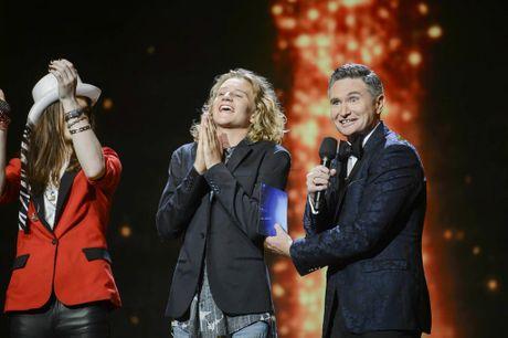Australia's Got Talent winner Fletcher Pilon pictured with host Dave Hughes.