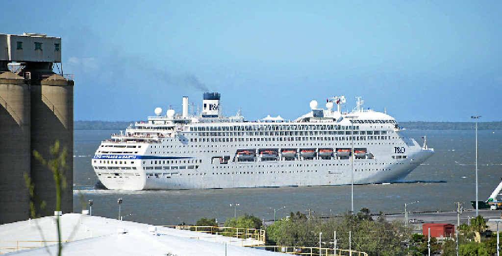 SHIP AHOY: P&O; Cruise ship Pacific Dawn leaves the Gladstone port.