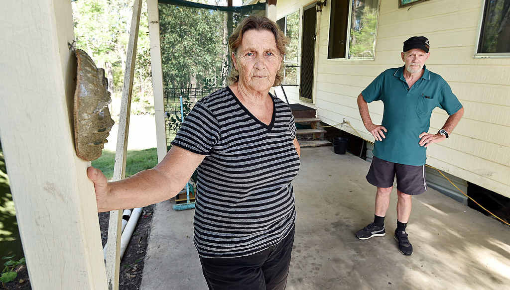 CRUEL THEFT: Glenwood's Shirley and Fred Gladmanhad their car stolen right in front of them, and then crashed near Miriam Vale, leaving them without transport.