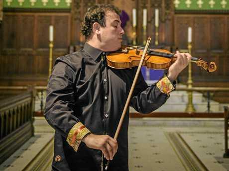 Attilla Sautov performs in the Christ Church Cathedral.